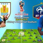 Jadwal Piala Dunia Rusia – France vs Uruguay Akan Alot